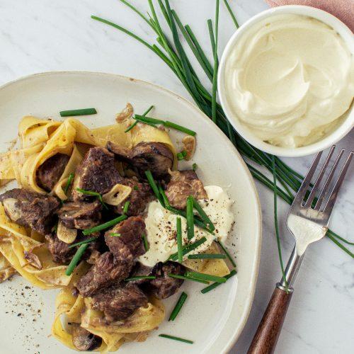 Creamy Braised Beef Stroganoff, Copper Onion Copycat Recipe