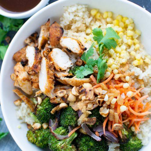 chicken teriyaki rice bowl, zao asian cafe copycat recipe